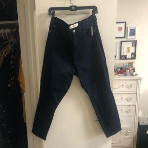 Gap Dark Wash High Rise Skinny Crop Jeans